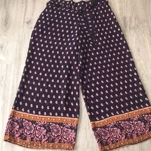Wide Leg Bohemian Vibe Pants